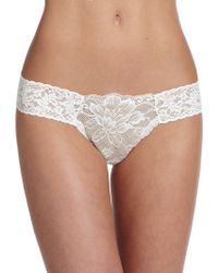 Hanky Panky Lady Catherine Lace Thong - Lyst