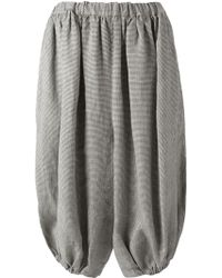 Comme des Garçons Houndstooth Oversized Culottes - Lyst
