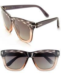 Tom Ford Women'S 'Celina' 55Mm Polarized Sunglasses - Grey To Peach/ Polarized Grey - Lyst