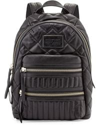 Marc By Marc Jacobs Domo Biker Leather Backpack Black - Lyst