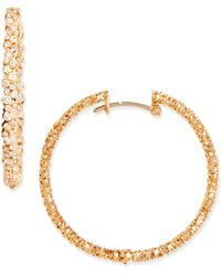 Paul Morelli - 18K Pink Gold Diamond Confetti Hoop Earrings - Lyst