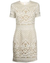 Lover White Libra Fitted Dress - Lyst