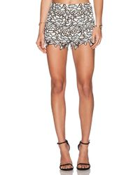 Alice + Olivia High Waisted Lace Short - Lyst