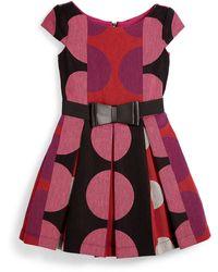 Zoe Pleated Polka-dot Dress - Lyst
