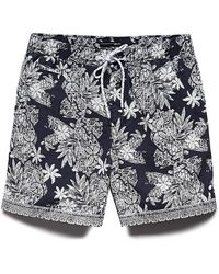 Forever 21 - Botanical Cotton-blend Swim Trunks You've Been Added To The Waitlist - Lyst