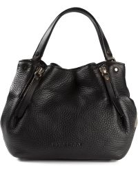 Burberry Small Check Tote - Lyst