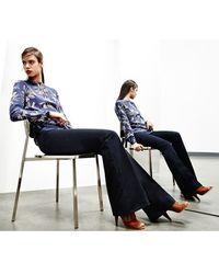Akris Punto 'Milton' Flare Leg Tech Wool Pants - Lyst