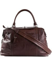 Brunello Cucinelli Brown Large Holdall - Lyst