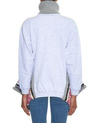 Michaela Buerger   Wool-knit Trimmed Jersey Roll-neck Jumper   Lyst