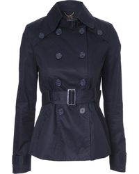 Jane Norman Belted Long Sleeve Casual Trench Coat - Lyst