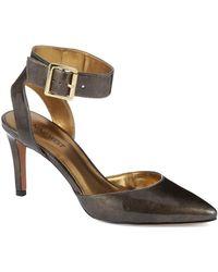 Nine West Callen Leather Ankle-Strap Pumps - Lyst