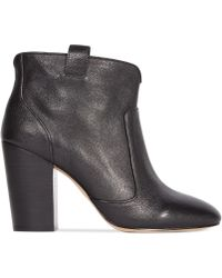 French Connection Livvy Mid Heel Casual Booties - Lyst