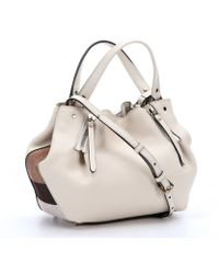 Burberry White Leather Small 'Maidstone' Shoulder Bag - Lyst
