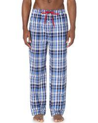 Pink Pony - James Checked Cotton Pyjama Bottoms - Lyst