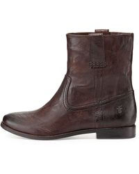 Frye Anna Shortie Leather Boot - Lyst