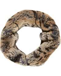 Barneys New York Animal Fur Cowl - Lyst