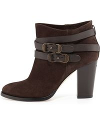 Jimmy Choo Melba Wrapstrap Suede Ankle Boot - Lyst