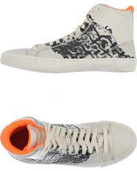 Alexander McQueen x Puma | Printed Leather High-Top Sneakers | Lyst