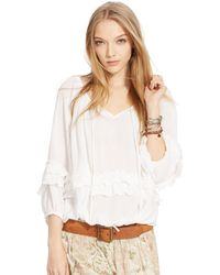 Denim & Supply Ralph Lauren Ruffled Boho Top - Lyst