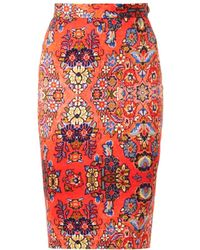 Vivienne Westwood Anglomania Dynasty-print Pencil Skirt - Lyst