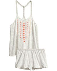 H&M Jersey Pyjamas gray - Lyst