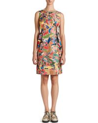 Jil Sander Arte Povera Pleated Aline Dress - Lyst