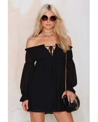 Nasty Gal | Just Romancin' Off-the-shoulder Dress | Lyst