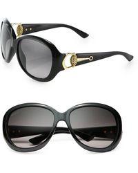 Gucci Horsebit 59Mm Round Sunglasses black - Lyst