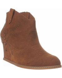 Naughty Monkey - Giddy Up Ankle Bootie - Lyst