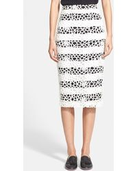A.L.C. 'Della' Cutout Lace Pencil Skirt - Lyst