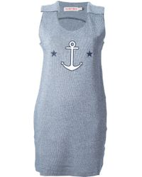 See By Chloé Blue Anchor Dress - Lyst