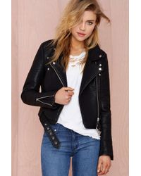 Nasty Gal Atomic Vegan Leather Jacket - Lyst