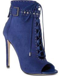 B Brian Atwood - Lamotte Suede Ankle Boots - Lyst