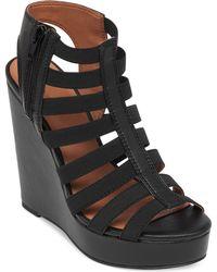 Lucky Brand Women'S Reynolds Platform Wedge Sandals - Lyst
