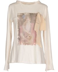 Erika Cavallini Semi Couture T-Shirt white - Lyst