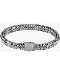 John Hardy 'Classic Chain' Diamond Medium Bracelet - Lyst
