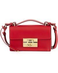 Ferragamo Aileen Small Leather Shoulder Bag - Lyst