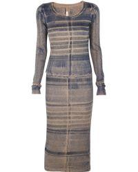 Raquel Allegra Long Sleeve Layering Dress - Lyst