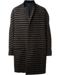 Haider Ackermann Black Striped Coat - Lyst