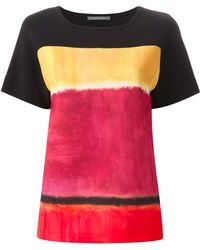 Alberta Ferretti Painted Colour Print T-Shirt - Lyst
