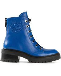 Kenzo Blue Platform Boots - Lyst