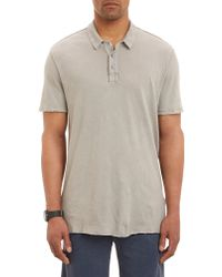 James Perse Reverse-seam Polo Shirt - Lyst