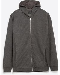 Zara | Hooded Sweatshirt | Lyst