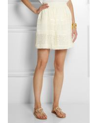 Alice By Temperley Fleur Lace and Georgette Mini Skirt - Lyst