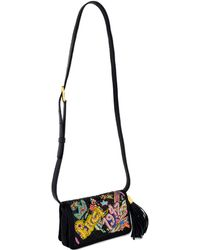 Emilio Pucci Black Beaded Shoulder Bag - Lyst