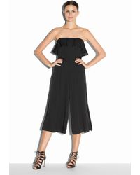 Milly Stretch Silk Crepe Athena Jumpsuit black - Lyst