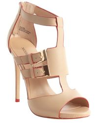Modern Vice Blush Leather Double Buckle Detail Sandals - Lyst