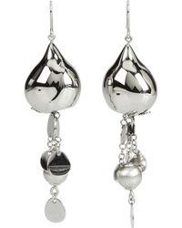 Breil - Bloom Sphere Chains Pailettes Earrings - Lyst