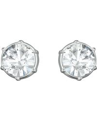 Swarovski Typical Silver-Tone Crystal Stud Earrings - Lyst