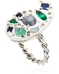 Sylvie Corbelin - One Of A Kind Sapphire and Emerald Ring - Lyst